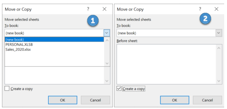 copy or duplicate a worksheet into a new workbook in excel