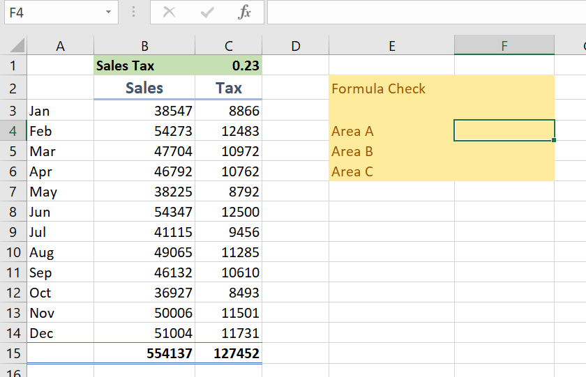 CHECK CELLS HAVE SAME FORMULA WITH FORMULATEXT