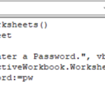 password protect all Excel Worksheets